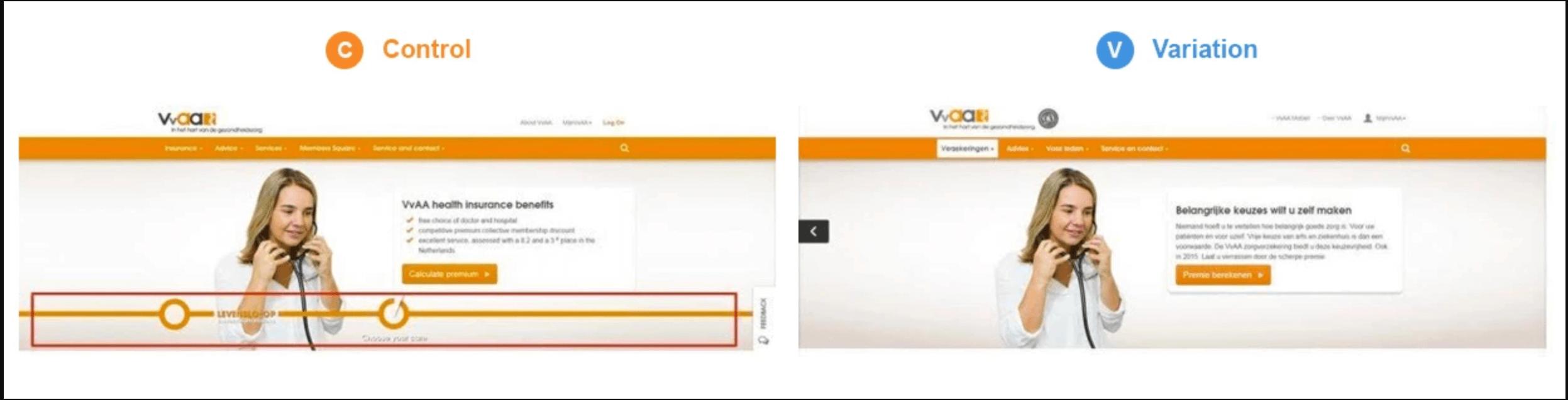 VVAA A/B Test