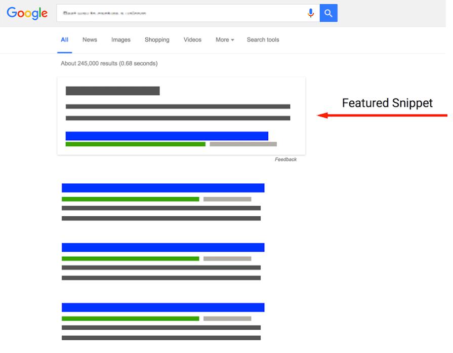 Voorbeeld van een Featured Snippet in Google