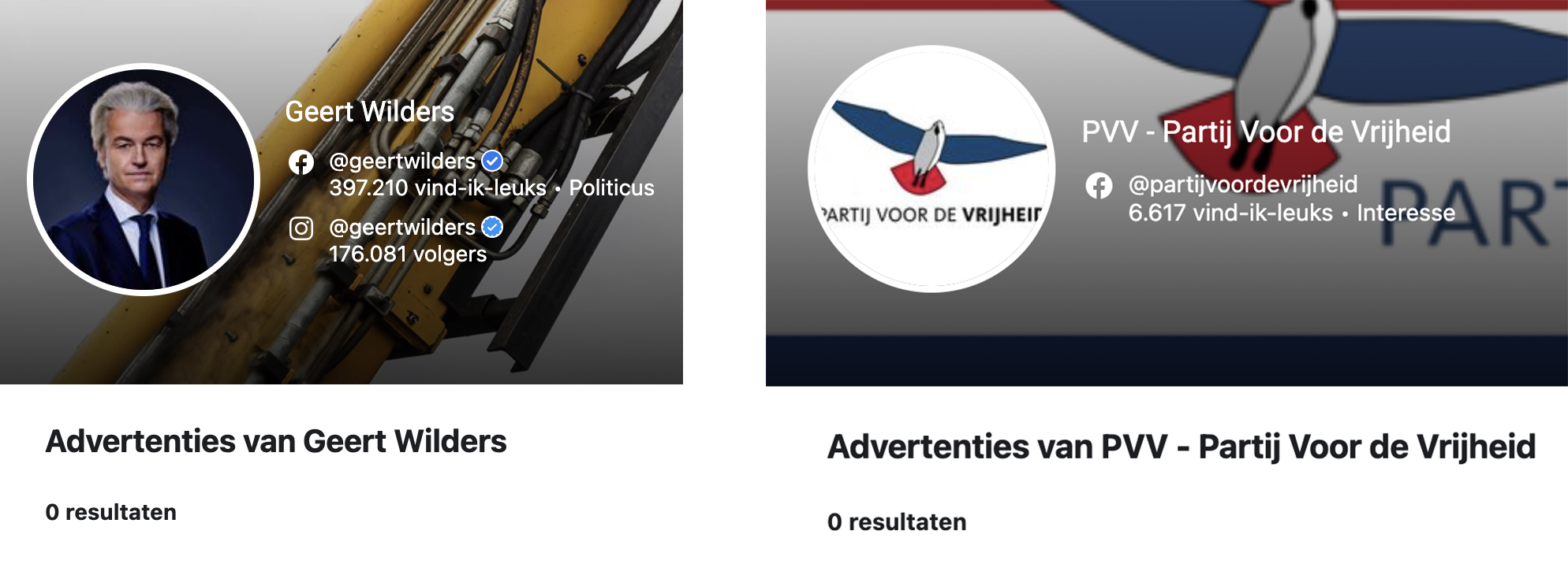 Advertenties PVV